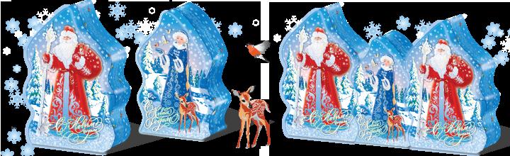 Дед Мороз и Снегурочка - новогодний чай