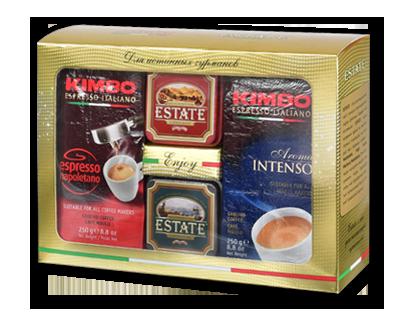 Подарочный набор элитного чая Estate и кофе Kimbo